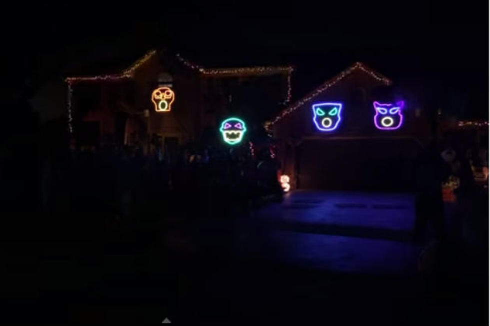 this halloween light show is set to queens bohemian rhapsody video