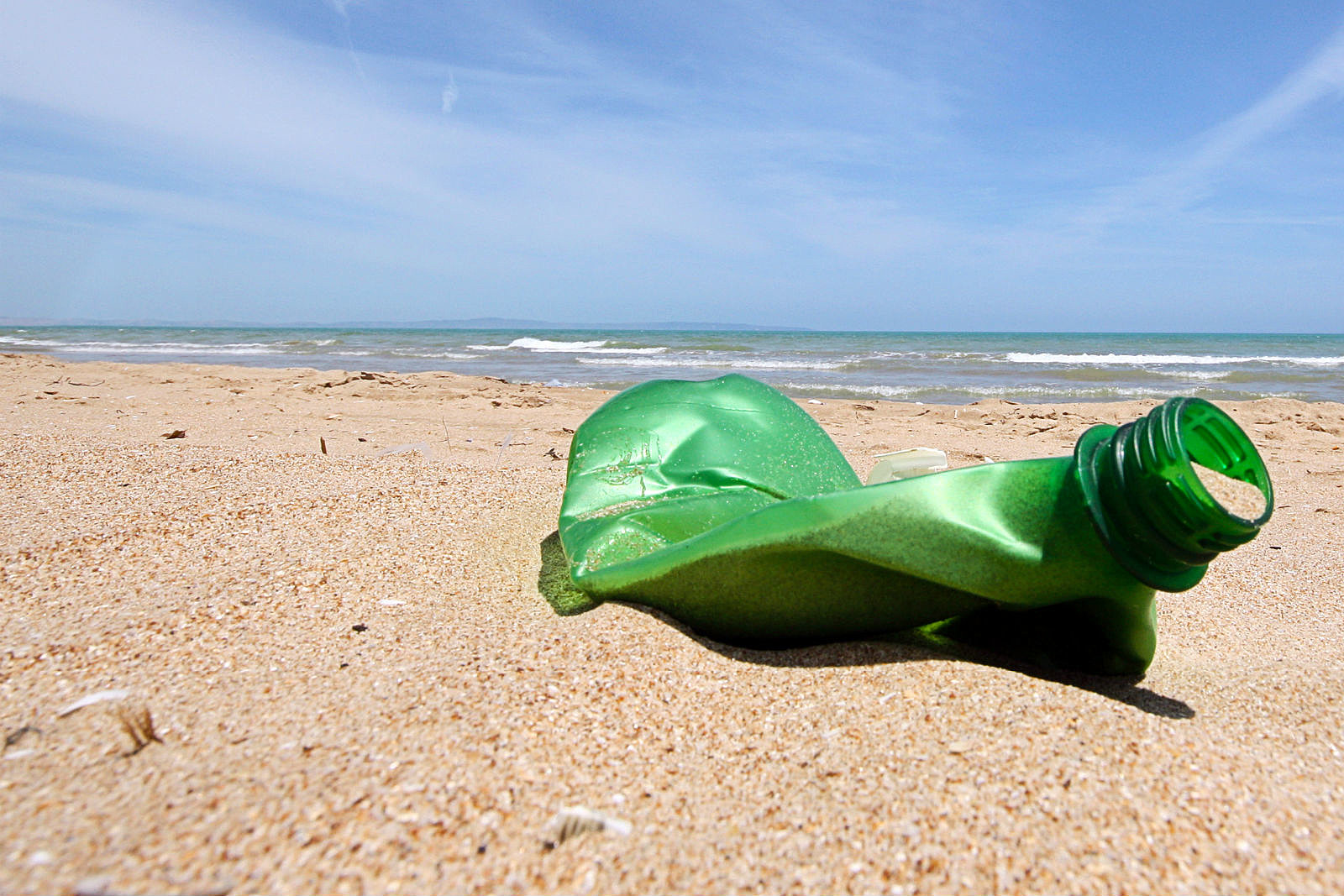 Empty Bottle on Beach